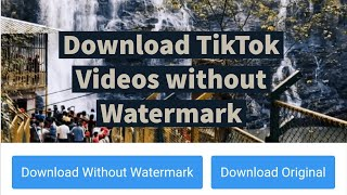 How to download TikTok Videos without Watermark on Android