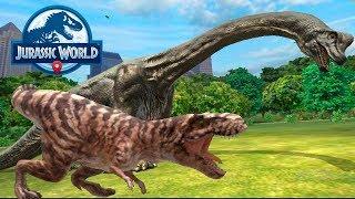 Бои против Быстрых динозавров Мегалозоавр Jurassic World Alive