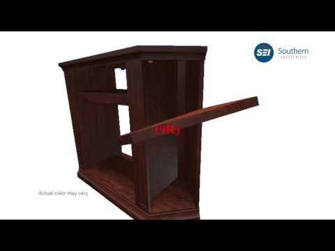 FE9310: Claremont Convertible Media Electric Fireplace - Cherry Assembly Video - New Hardware
