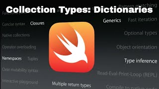 Collection Types - Dictionaries