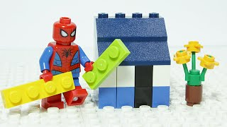 Spiderman Displays How To Build A Lego Holiday House - Inspirational DIY Animation