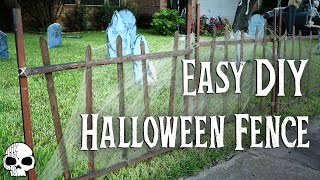 DIY Halloween Props - SUPER EASY Cemetery Fence!
