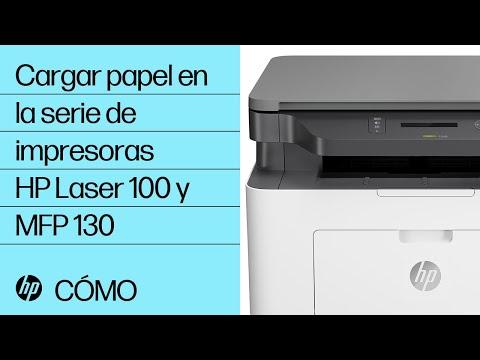 Cargar papel en la serie de impresoras HP Laser 100 y MFP 130