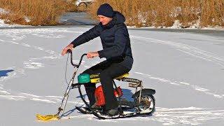 ✅Зверские испытания самодельного Снегохода из БензоПилы