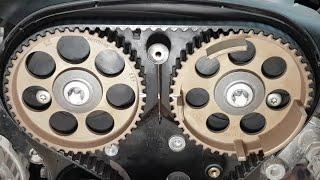 Wymiana rozrządu, pompy i simmeringa wału korbowego - Opel Astra G 1.6 16V 1998 X16XEL