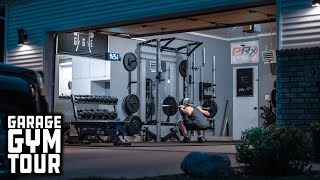 Man Builds Entire Home Gym That Stores On The Wall   Garage Gym Tour