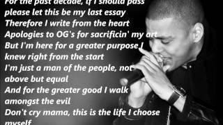 J. Cole - Let Nas Down (Lyrics On Screen)