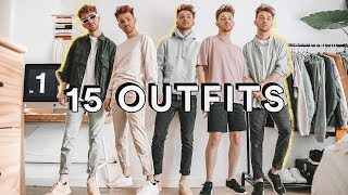 15 MINIMAL EASY OUTFIT IDEAS FOR MEN 👕