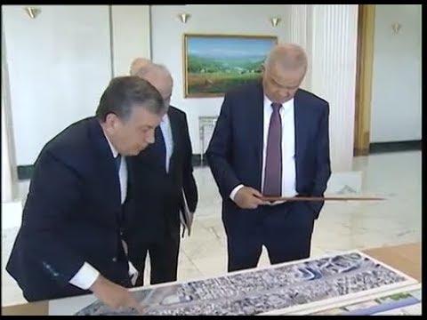 Уникальные кадры: Каримов и Мирзиёев обсуждают изменения в облике Ташкента
