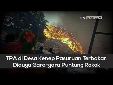 TPA di Desa Kenep Pasuruan Terbakar, Diduga Gara gara Puntung Rokok