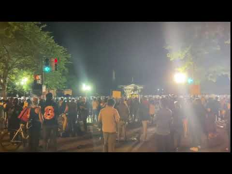 فيديو:استمرارالمظاهرات في امريكا رفضا للعنصرية ضد السود