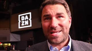 EDDIE HEARN REACTS TO ANDRADE WIN, LINARES LOSS, SAUNDERS MANDATORY?, AJ OFFERS, WILDER