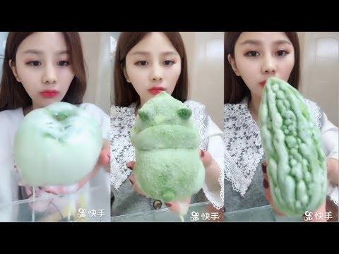 Sütlü Buz Yemek Videoları - #125 ASMR (Frozen Milk Eating)