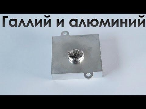 Реакция жидкого галлия и алюминия.