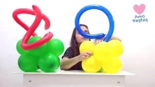 """Aprenda como fazer uma decoração de balões (bexigas) super útil para festas em geral. Aprenda como fazer um belo centro de mesa com balões. Quer aprender mais dicas sobre festas, festa infantil e decoração? Conheça a Amo Festas!  - Visite nosso site e comunidade - http://amofestas.com - Curta nossa página no Facebook - http://facebook.com/amofestas  - Não deixe de se inscrever no nosso canal do YouTube - Gostou? Então clique em """"Gostei"""" e compartilhe com suas amigas e familiares."""