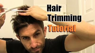 The EASY Home Haircut   How To Cut Your Own Hair At Home   Trimming Tips & Tricks