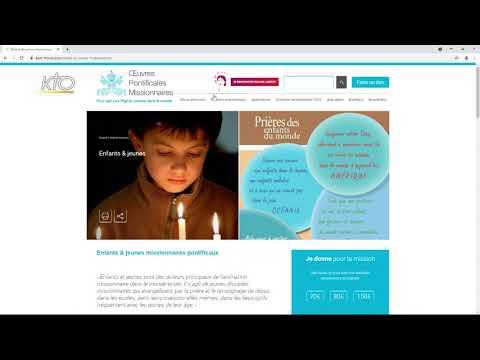Le site web des OEuvres Pontificales Missionnaires