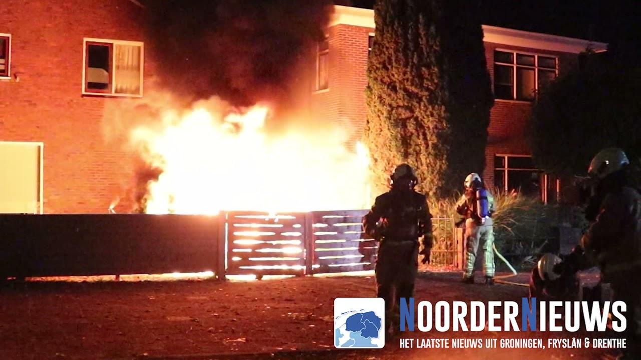 Bestelbus verwoest door brand in Hoogeveen