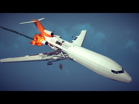 Large Airplanes Shot Down by Three Types of Guided Missiles #4   Besiege