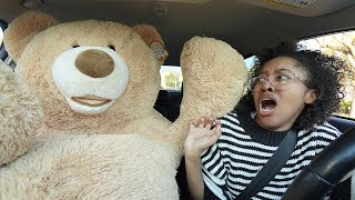 TEDDY BEAR COMES TO LIFE PRANK ON SISTER... (cute reaction)