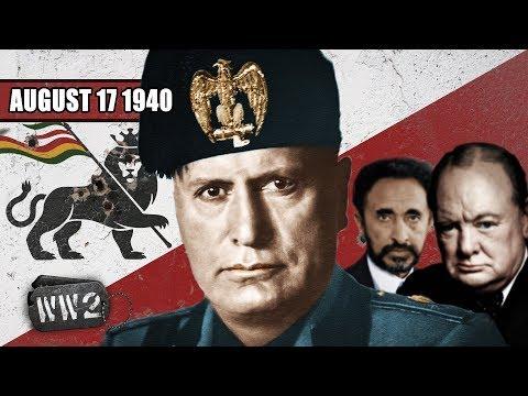 Italové dobyli britské Somálsko - Druhá světová válka