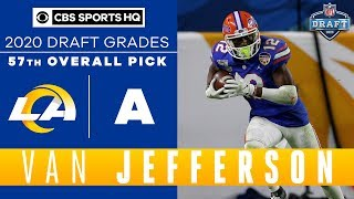 Los Angeles Rams receive a HARD WORKING player in Van Jefferson with the 57th pick | 2020 NFL Draft