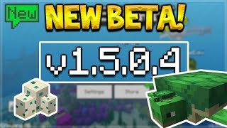 NEW MCPE 15.0.4 BETA! Minecraft Pocket Edition - NEW Turtles Added & Bubble Columns!
