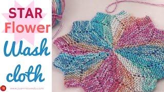Star Flower Washcloth