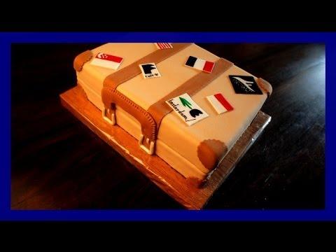Koffer Torte - Großer Reisekoffer Kuchen - von Kuchenfee