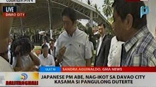 Japanese PM Abe, nag-ikot sa Davao City, kasama si Pangulong Duterte