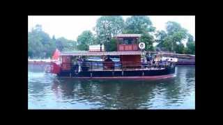 preview picture of video 'Paddle Boat Lucy Fisher At Runnymede, Windsor England'