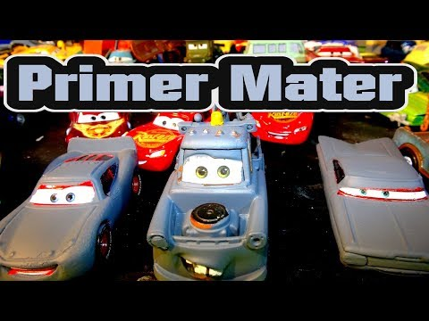 Pixar Cars Mater we make Primer Mater featuring Lightning McQueen and Ramone