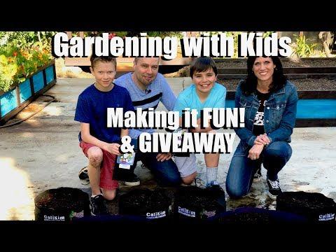 Gardening with Kids - 4 Ways to Make it Fun & GIVEAWAY // Kid's Garden Series #1