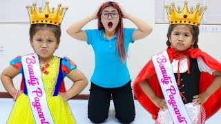 Suri & Annie Pretend Play Beauty Pageant Contest for Kids