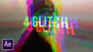 Create 4 Popular Glitch Effects Very Fast   After Effects Tutorial