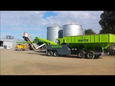 The Mantis 1st mobile shipping container filler in the world