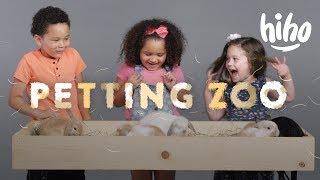 Kids Meet Bunnies, Chinchillas, And A Sheep! | HiHo Petting Zoo  | HiHo Kids