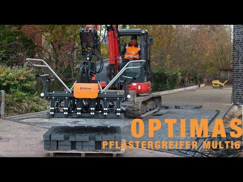 Optimas Optimas Pflastergreifer Multi6 für Anbaugerät