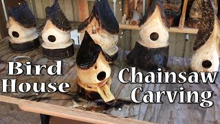 Birdhouse Chainsaw Carving