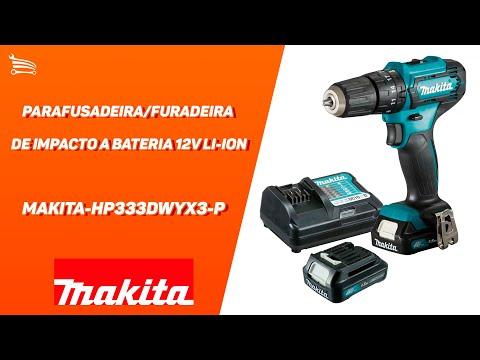 Parafusadeira/Furadeira de Impacto a Bateria 12V Li-Ion com Carregador e 2 Baterias - Video