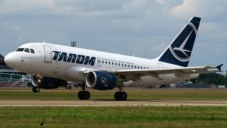 preview picture of video 'YR-ASD TAROM Airbus A318 taking off at Strasbourg Entzheim Airport !'