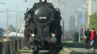 preview picture of video 'Dampflok BR52 4.10.2009 Wien-Zistersdorf'