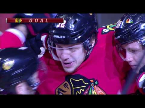 Gotta See It: Blackhawks chase Dubnyk on first two shots