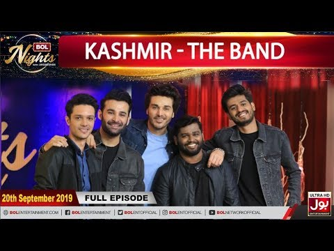 BOL Nights with Ahsan Khan   Kashmir - The Band   20th September 2019   BOL Entertainment