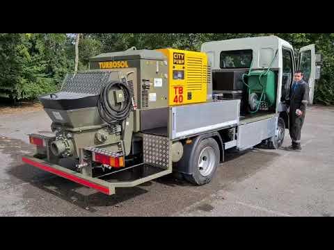 DAF / TURBOSOL TB40 Concrete Line Pump Video