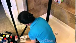 How to clean the gunk from shower doors @SavvyCleaner