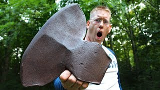 HUGE Ax Restoration - 8 lb Antique Hewing Axe Head
