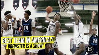 Jalen Lecque's Bounce Is INSANE!!  Brewster Academy the BEST TEAM in America?! J.Mashburn Jr Poster!