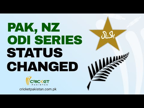 Pakistan, New Zealand ODIs status changed