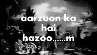 Aey Dil-e-beqaraar Jhoom-Karaoke & Lyrics   - YouTube